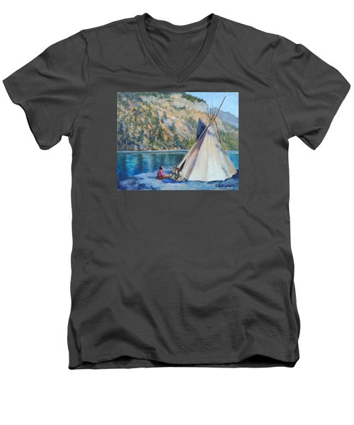 Camp By The Lake Men's V-Neck T-Shirt