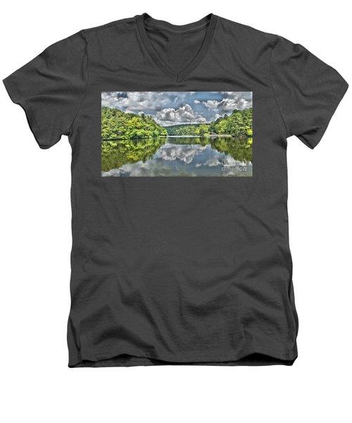 Camp Mountain Lake Men's V-Neck T-Shirt