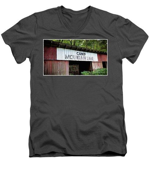 Camp Mountain Lake Horse Stables - Vintage America Men's V-Neck T-Shirt