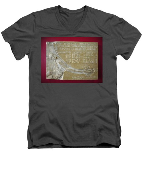 Men's V-Neck T-Shirt featuring the photograph Camp Nou 1982 by Juergen Weiss