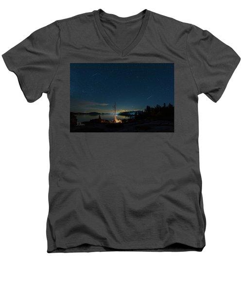 Campfire 1 Men's V-Neck T-Shirt