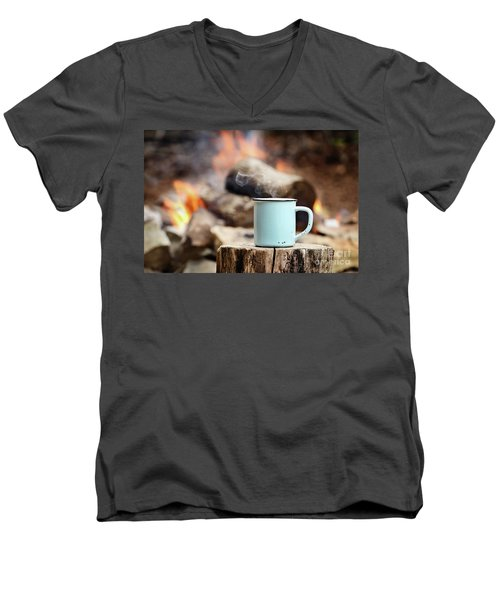 Campfire Coffee Men's V-Neck T-Shirt