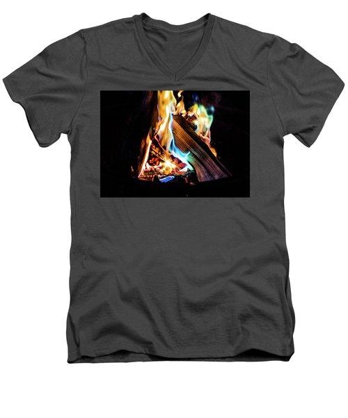 Campfire In July Men's V-Neck T-Shirt