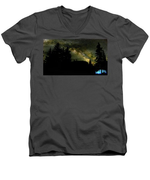 Camping Under The Milky Way 2 Men's V-Neck T-Shirt