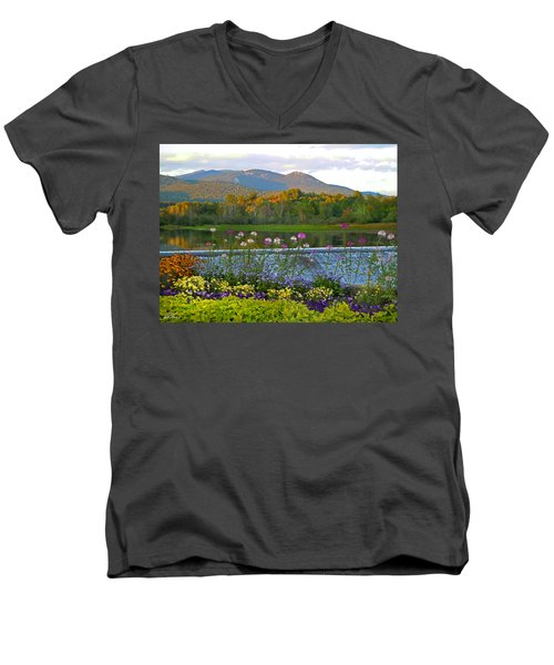 Campton Pond Campton New Hampshire Men's V-Neck T-Shirt
