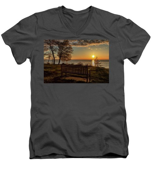 Campus Sunset Men's V-Neck T-Shirt