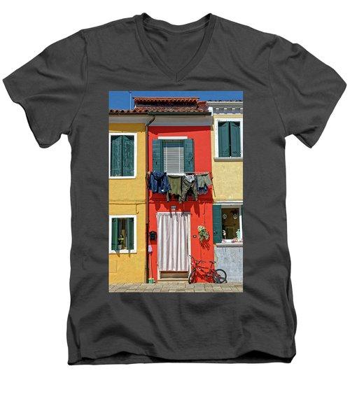 Can I Leave The Bike Outside? Men's V-Neck T-Shirt