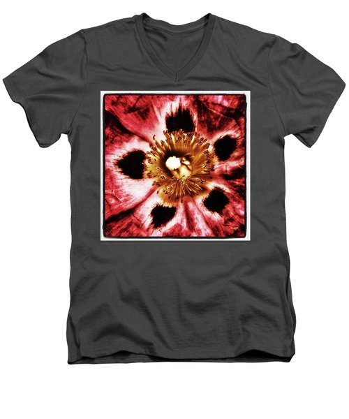 Men's V-Neck T-Shirt featuring the photograph Can You Guess What Flower? Hints: It's by Mr Photojimsf