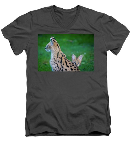 Can You See Me? Men's V-Neck T-Shirt by Rainer Kersten