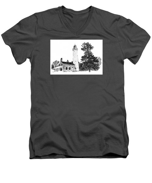 Cana Seldom Seen Men's V-Neck T-Shirt by Jim Rossol