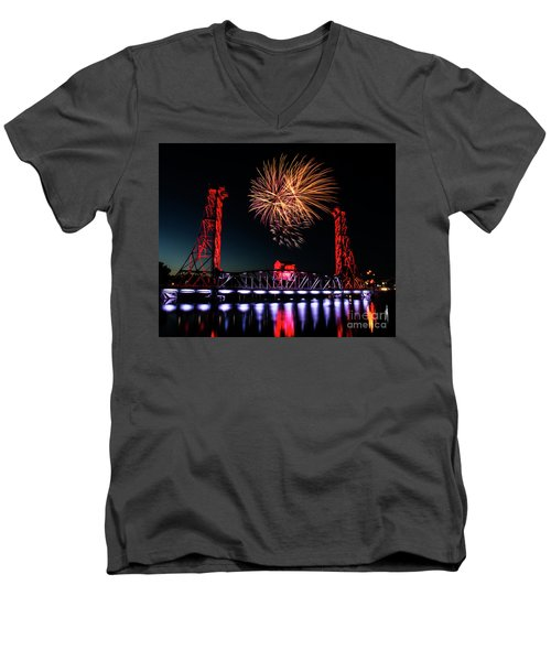 Canada Day 2016 Men's V-Neck T-Shirt by JT Lewis