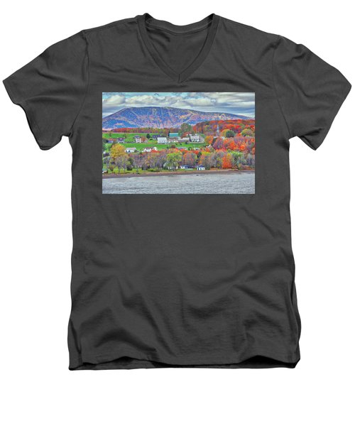 Canadian Fall Foliage Men's V-Neck T-Shirt