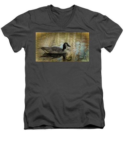 Canadian Goose Men's V-Neck T-Shirt by Steven Richardson