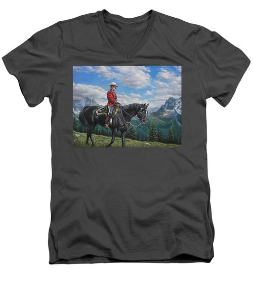 Canadian Majesty Men's V-Neck T-Shirt