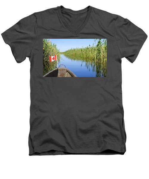 Men's V-Neck T-Shirt featuring the photograph Canadians In Africa by Betty-Anne McDonald