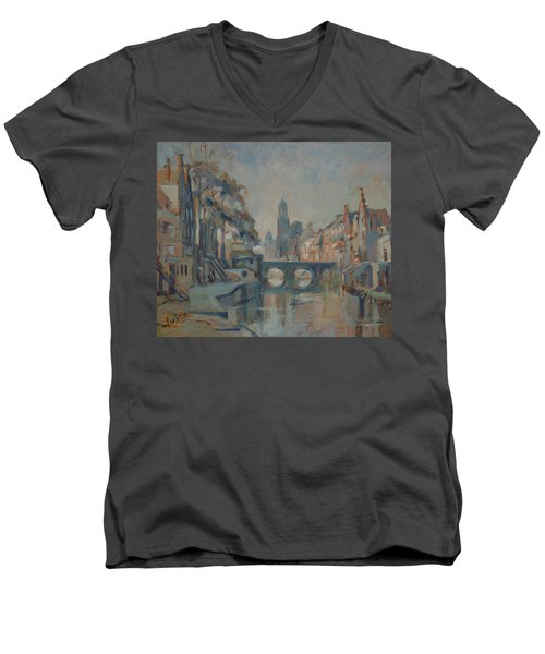 Canal In Utrecht Men's V-Neck T-Shirt