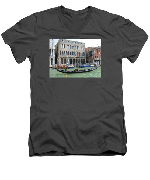Canal Of Venise Men's V-Neck T-Shirt by Lisa Boyd