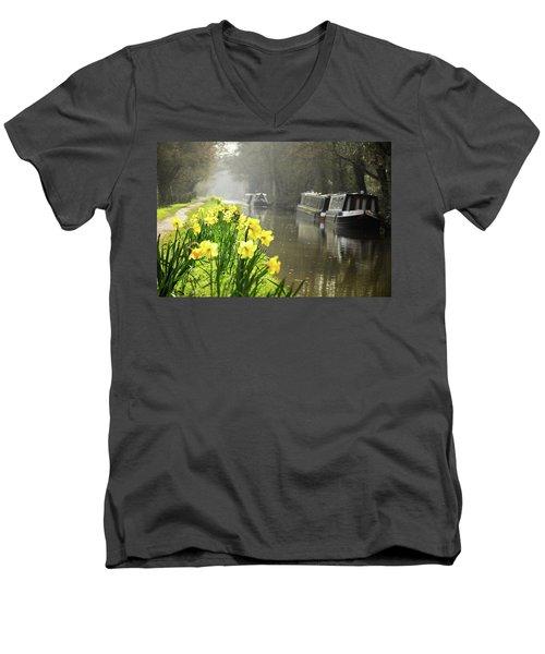 Canalside Daffodils Men's V-Neck T-Shirt