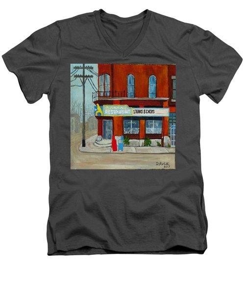 Canary Restaurant Men's V-Neck T-Shirt