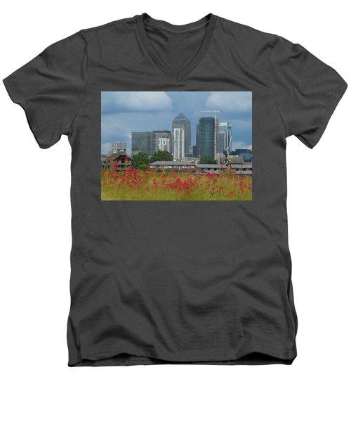 Canary Wharf 01 Men's V-Neck T-Shirt