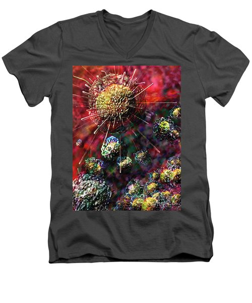 Cancer Cells Men's V-Neck T-Shirt
