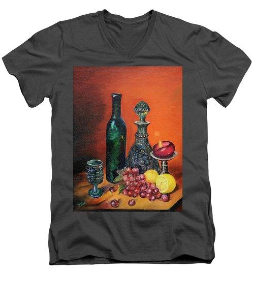 Candlelight Decanter Men's V-Neck T-Shirt
