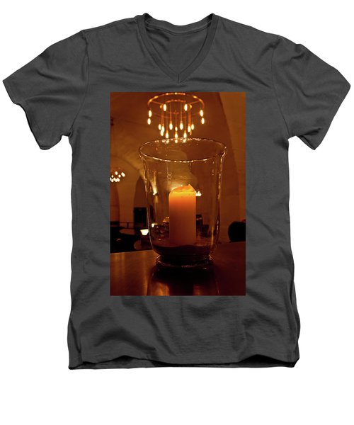 Candlelight Men's V-Neck T-Shirt