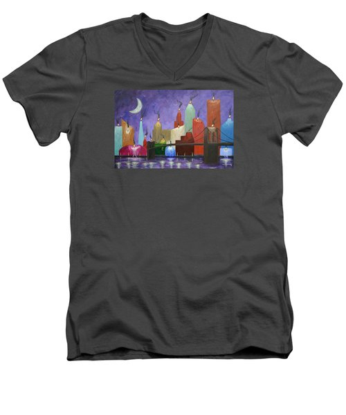 Candleopolis Men's V-Neck T-Shirt