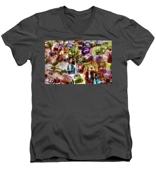 Men's V-Neck T-Shirt featuring the photograph Candy Camera by Michaela Preston