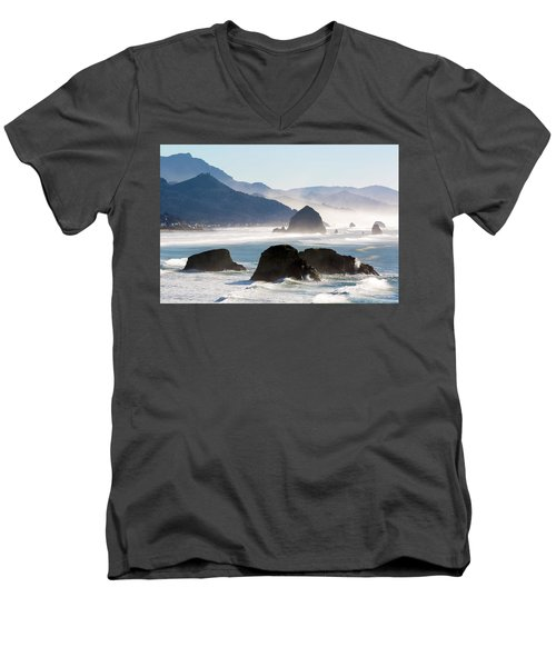 Cannon Beach On The Oregon Coast Men's V-Neck T-Shirt