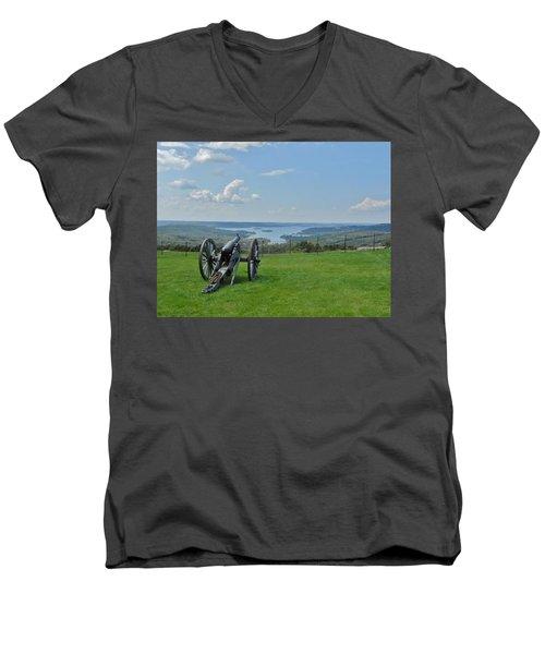 Cannons Ready Men's V-Neck T-Shirt by Julie Grace