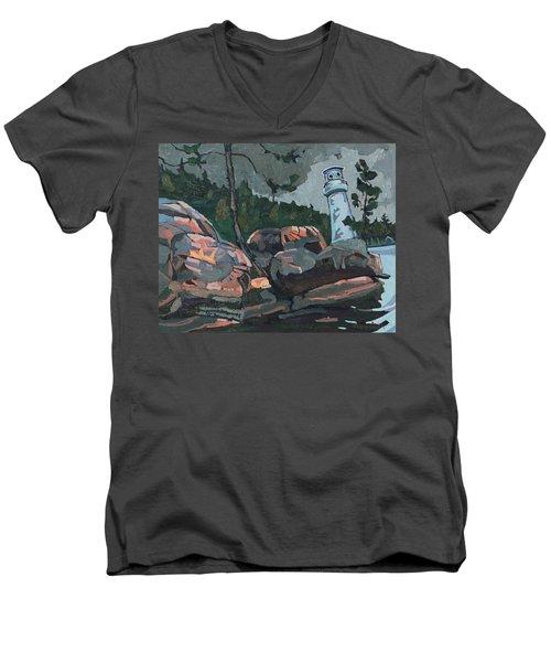Canoe Lake Light Men's V-Neck T-Shirt