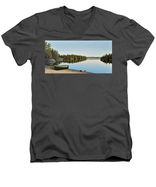 Canoe The Massassauga Men's V-Neck T-Shirt