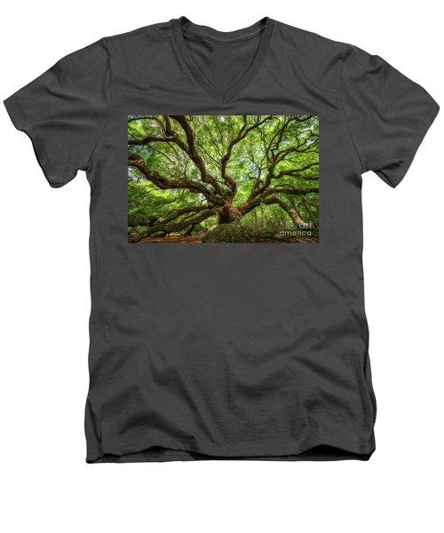Canopy Of Color At Angel Oak Tree  Men's V-Neck T-Shirt