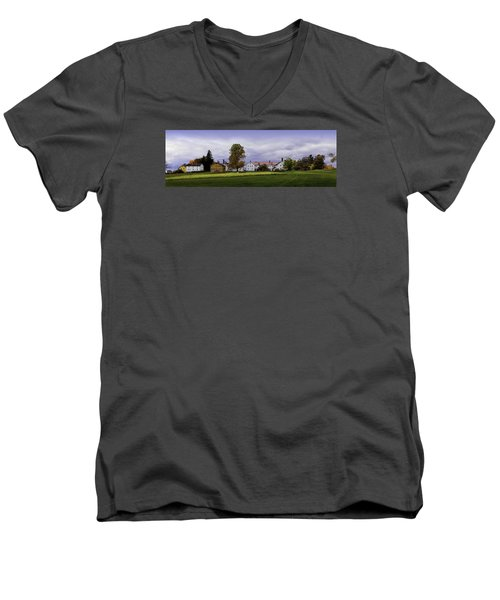 Men's V-Neck T-Shirt featuring the photograph Canterbury Shaker Village Nh by Betty Denise