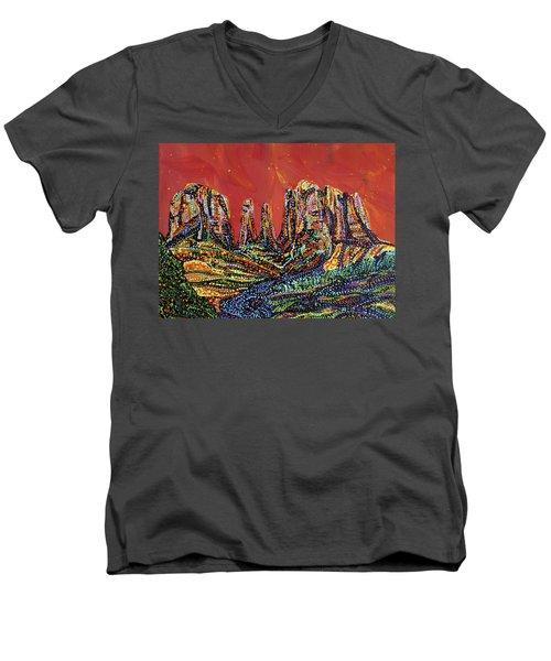 Canyon Men's V-Neck T-Shirt by Erika Pochybova