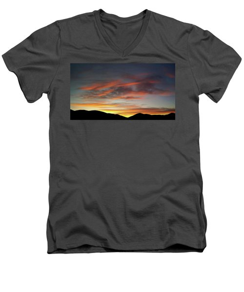 Canyon Hills Sunrise Men's V-Neck T-Shirt