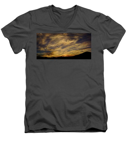 Canyon Hills Sunset Men's V-Neck T-Shirt