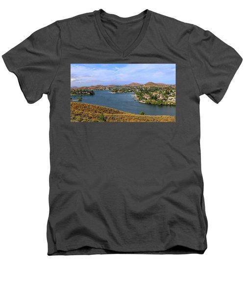 Canyon Lake Panorama Men's V-Neck T-Shirt