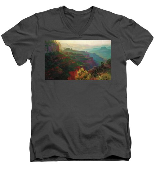 Canyon Silhouettes Men's V-Neck T-Shirt