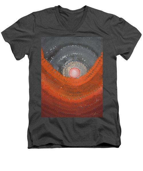 Canyon Wave Original Painting Men's V-Neck T-Shirt