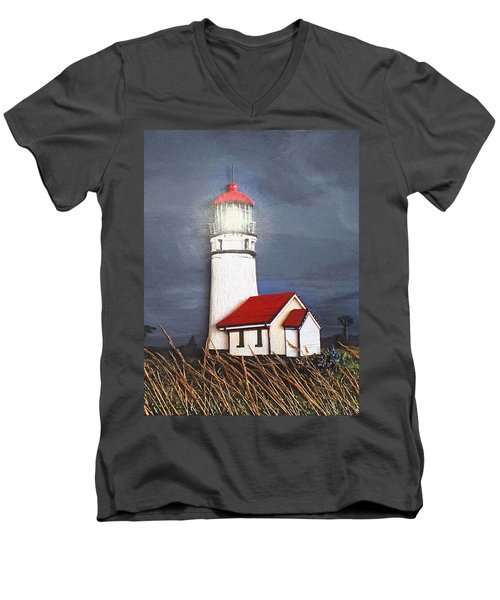 Cape Blanco Glow Men's V-Neck T-Shirt by Wendy McKennon
