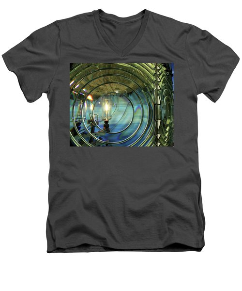 Cape Blanco Lighthouse Lens Men's V-Neck T-Shirt