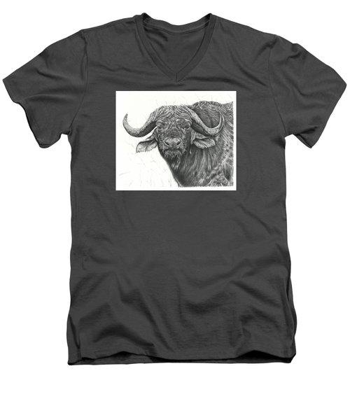 Cape Buffalo Men's V-Neck T-Shirt