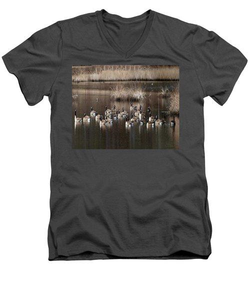 Cape Cod Americana Canada Geese Men's V-Neck T-Shirt