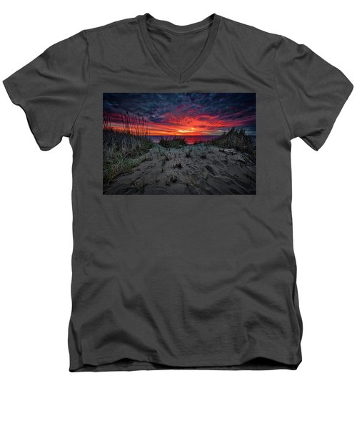 Cape Cod Sunrise Men's V-Neck T-Shirt