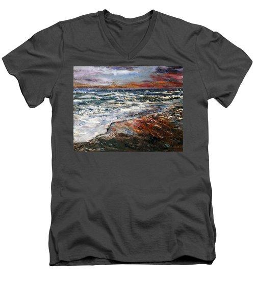 Cape Cod Sunset 1 Men's V-Neck T-Shirt