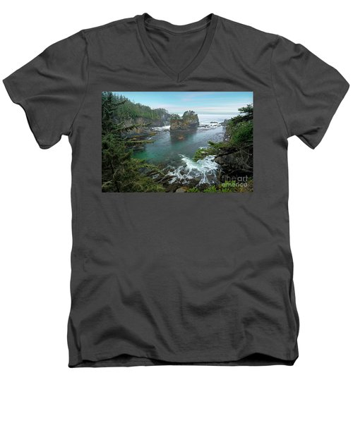 Cape Flattery North Western Point Men's V-Neck T-Shirt