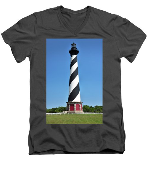 Cape Hatteras Light Men's V-Neck T-Shirt