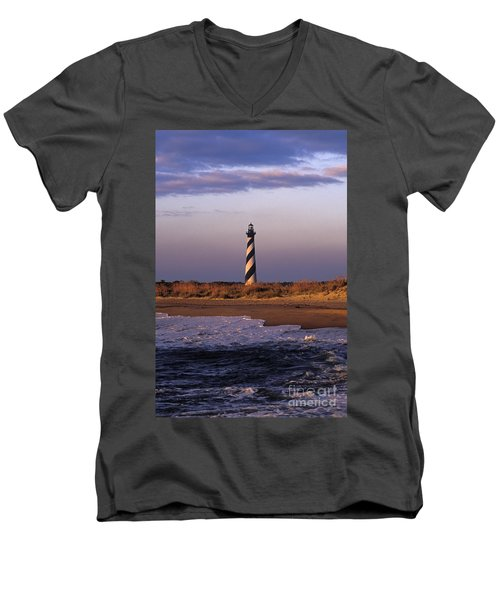 Cape Hatteras Lighthouse At Sunrise - Fs000606 Men's V-Neck T-Shirt